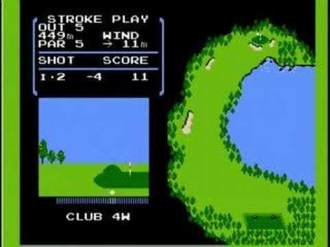 ファミコン版ゴルフ(-18)OUT1~9