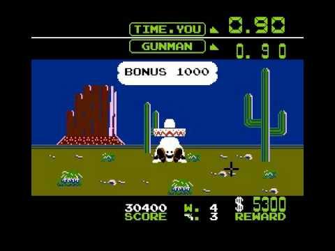 ファミコン ワイルドガンマン ゲームA